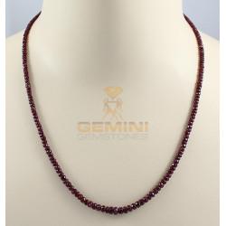 Rubin Kette - facettierte Rubin Halskette 54,5 cm lang