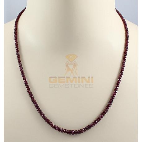 Rubin Kette - facettierte Rubin Halskette 54,5 cm lang-Edelsteinketten