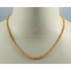 Mandaringranat-kette - facettierter Spessartingranat Halskette 48 Karat