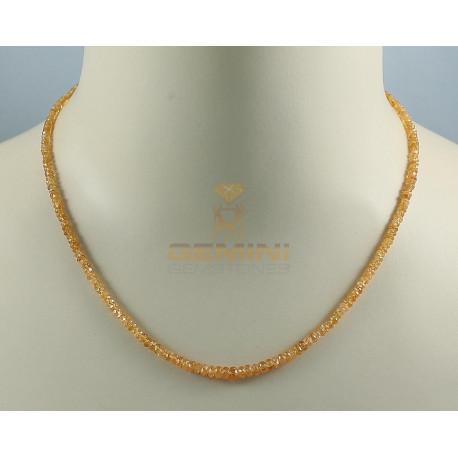 Mandaringranat-kette - facettierter Spessartingranat Halskette 48 Karat-Edelsteinketten