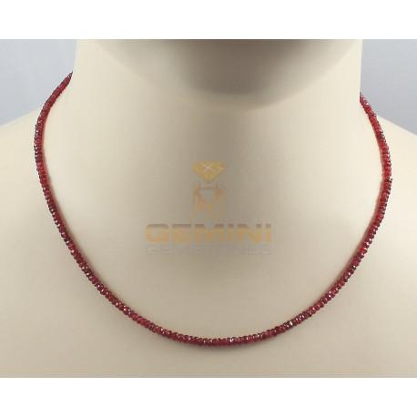 Rote Spinell-Kette facettiert 33 Karat-Edelsteinketten