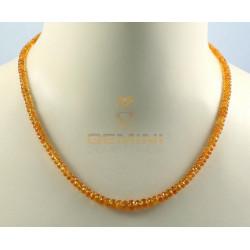 Mandaringranat-Kette, Spessartin, facettiert, 48 cm