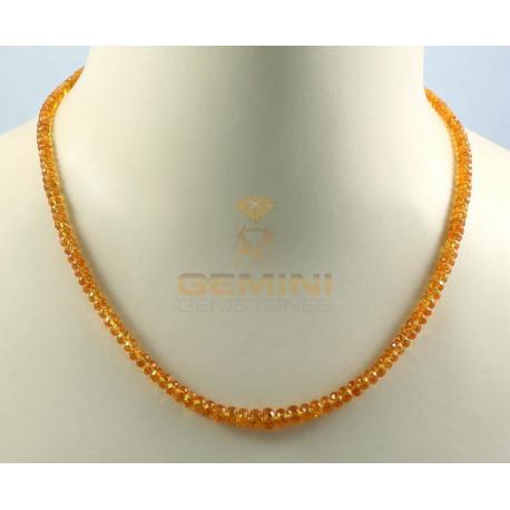 Mandaringranat-Kette, Spessartin, facettiert, 48 cm-Edelsteinketten