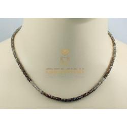 Zirkon-Kette, Natur-Zirkone, Halskette für Damen, 44 cm