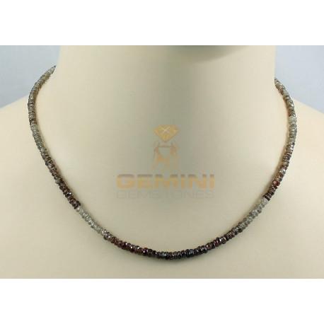 Zirkon-Kette, Natur-Zirkone, Halskette für Damen, 44 cm-Edelsteinketten