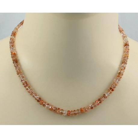 Sonnenstein Kette facettierte Sonnenstein Halskette Damen-Edelsteinketten