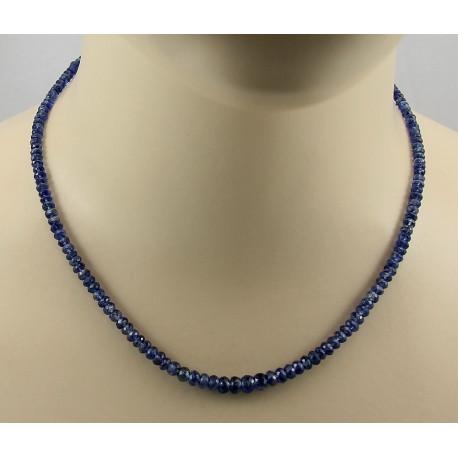 Kyanit Kette blauer Kyanit facettiert Halskette 75 Karat-Edelsteinketten