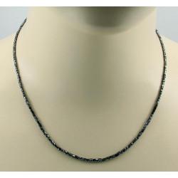 Diamant-Kette - schwarzer Diamant facettiert 44,5 cm lang
