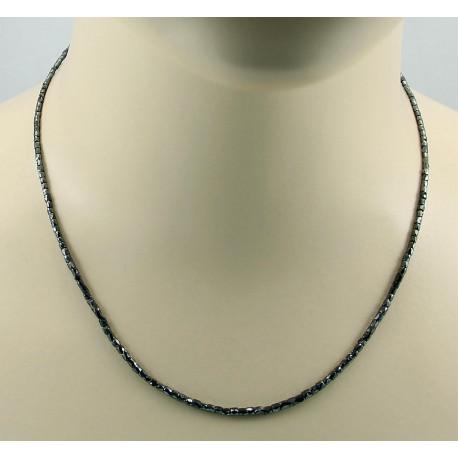 Diamant-Kette schwarzer Diamant Halskette für Damen 20 Karat-Edelsteinketten