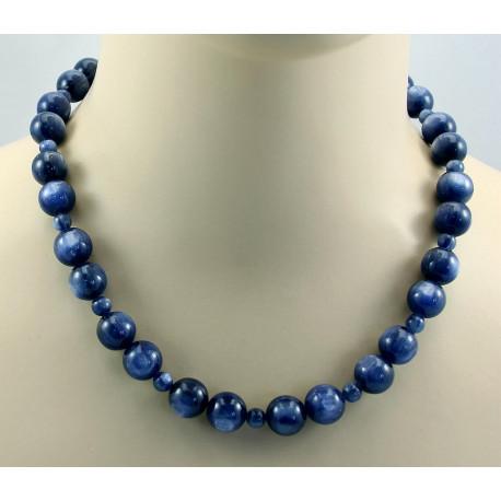 Kyanit Kette blaue Kyanit Kugeln Halskette für Damen-Edelsteinketten
