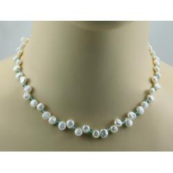 Perlenkette Keshi Perlen mit Apatit Halskette für Damen
