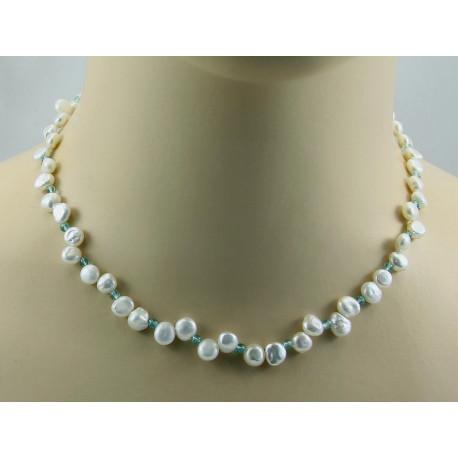 Perlenkette Keshi Perlen mit Apatit Halskette für Damen-Perlenketten