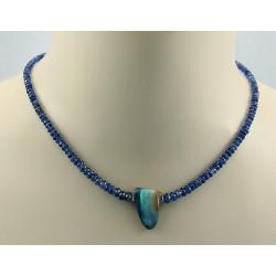 Kyanit Kette mit Boulder-Opal Halskette für Damen