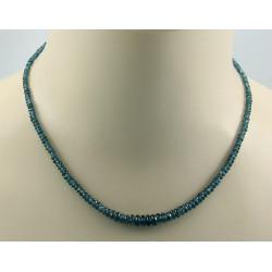 Kyanit Kette Kyanit facettiert blau-grün Halskette für Damen