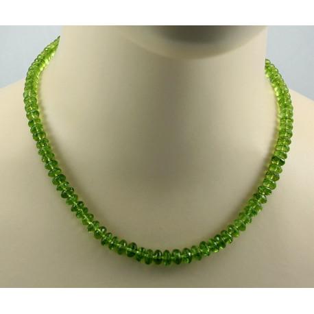 Peridot Kette facettierter Peridot Halskette für Damen 180 Karat-Edelsteinketten