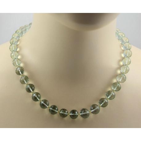 Prasiolith Kette grüne Amethyst Kugeln Halskette für Damen-Edelsteinketten