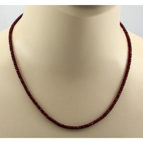 Rubin Kette facettierter Rubin Halskette Damen 55 Karat-Edelsteinketten
