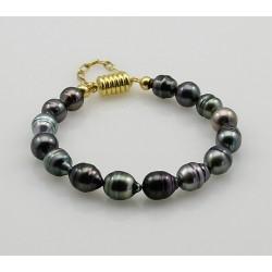 Perlenarmband Tahiti-Perlen Barock mit Magnet-Schließe-Perlen-Armbänder