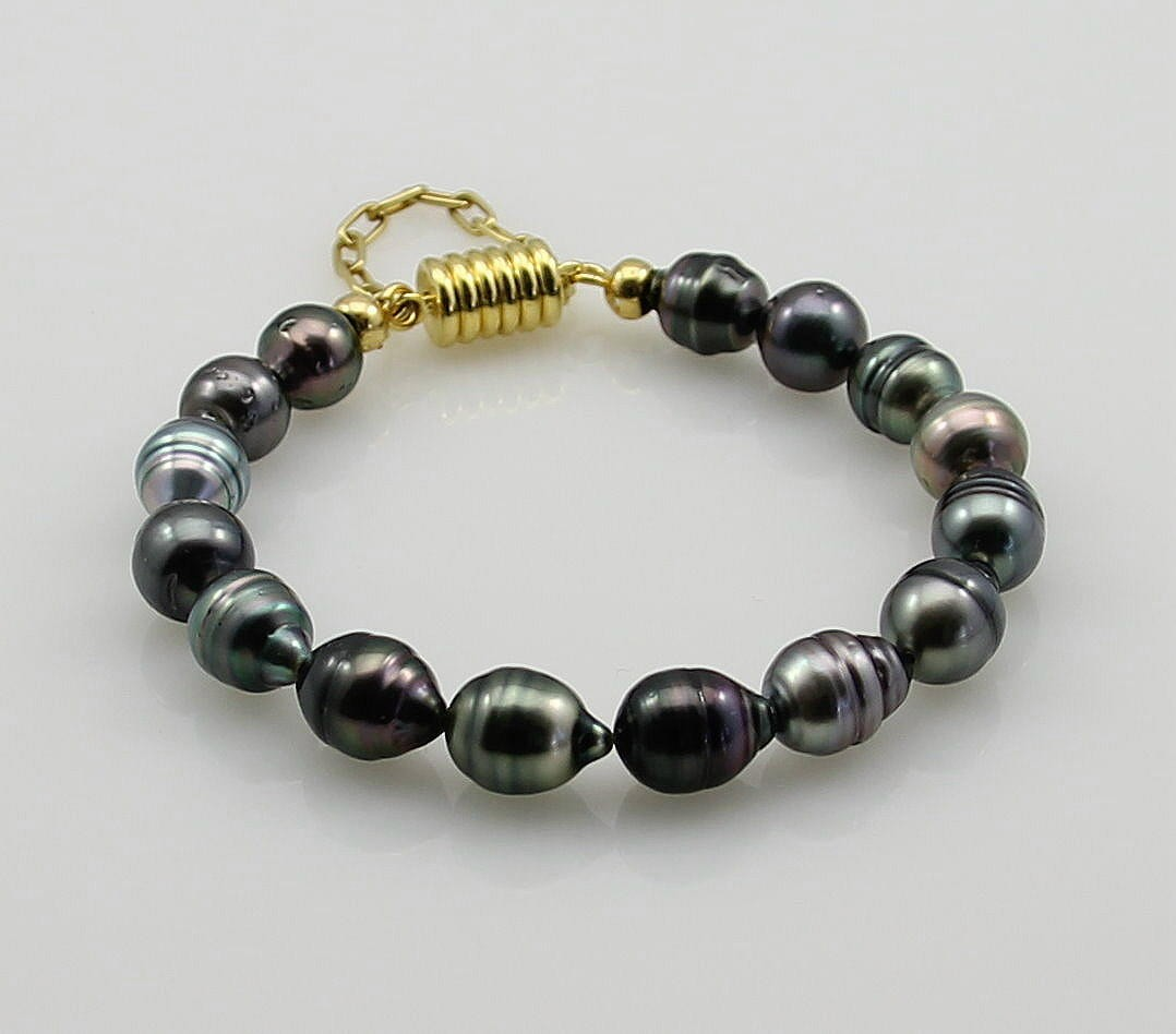 perlenarmband tahiti perlen barock mit magnet schlie e in. Black Bedroom Furniture Sets. Home Design Ideas