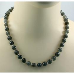 Mondstein Kette grau mit Perle 51 cm lang