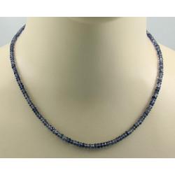 Iolith Kette blauer Iolith facettiert Halskette für Damen 46 cm