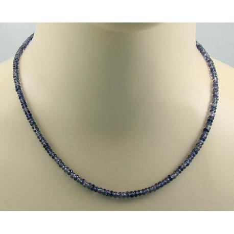 Iolith Kette blauer Iolith facettiert Halskette für Damen 46 cm-Start