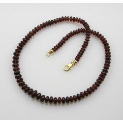 Ganat Kette Granat Rondelle Halskette für Damen 45 cm