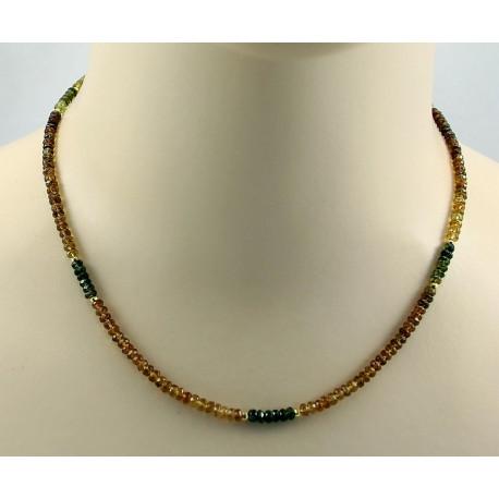 Chrom-Turmalin Kette facettiert 45 cm lang-Edelsteinketten