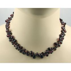 Granat Kette Rhodolith-Granat Collier Halskette für Damen 44 cm