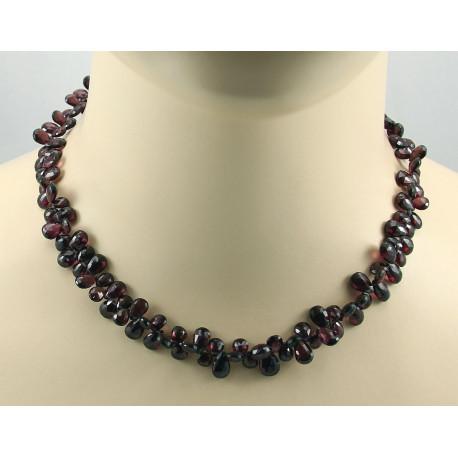 Granat Kette Rhodolith-Granat Collier Halskette für Damen 44 cm-Edelsteinketten
