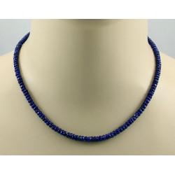 Lapislazuli Kette Lapis Halskette blau facettiert für Damen 45 cm