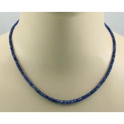 Saphir Kette blaue Saphir halskette für Damen 45,5 cm