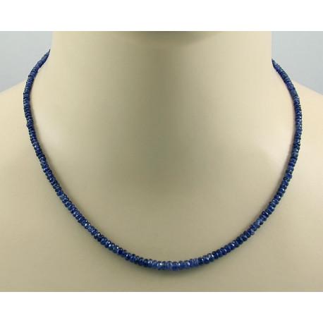 Saphir Kette blaue Saphir halskette für Damen 45,5 cm-Edelsteinketten