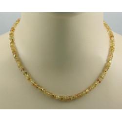Topas Kette gelb goldene Imperial Topas Halskette für Damen 45,5 cm
