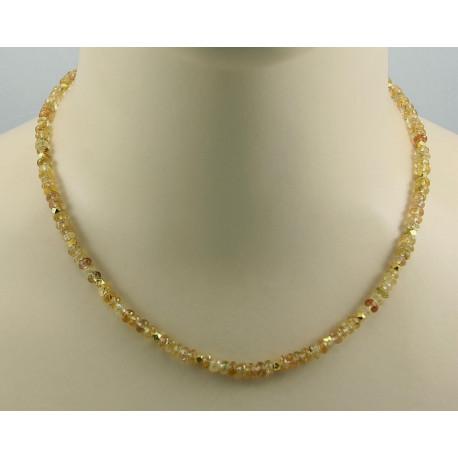 Topas Kette gelb goldene Imperial Topas Halskette für Damen 45,5 cm-Edelsteinketten