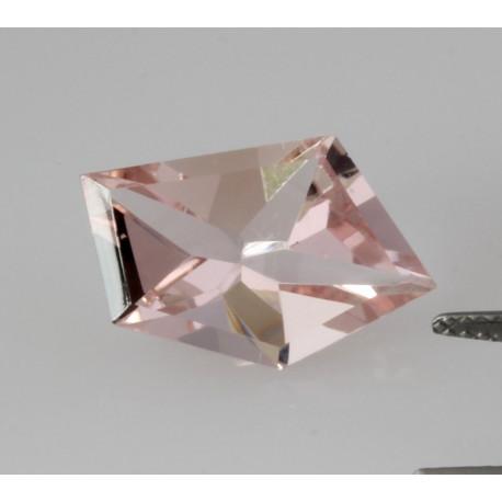 Turmalin Spiegelschliff facettiert rosa Turmalin 6,49 Karat-Edelsteine