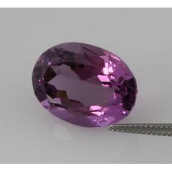 Amethyst violett oval facettierter Amethyst 15,26 Karat