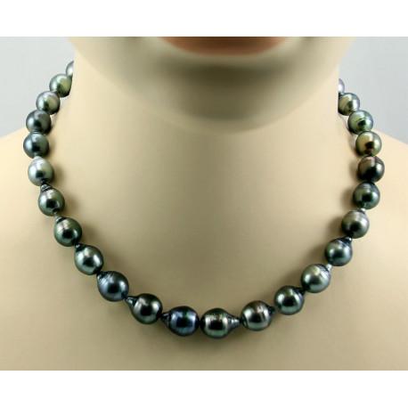 Tahiti Perlenkette - Tahiti Zuchtperlen in Barockform - 45 cm-Perlenketten