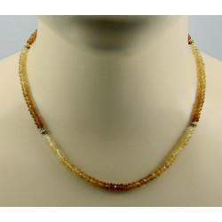 Hessonit Kette facettierte Hessonit-Granat Edelsteinkette für Damen 45 cm