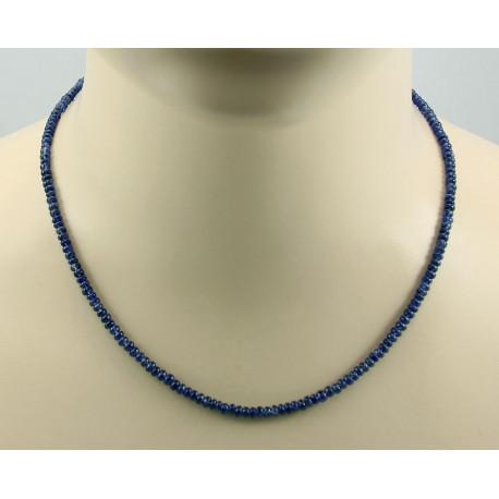 Saphir Kette blaue Saphir Rondelle Edelsteinkette echter Saphir 57 kts-Edelsteinketten
