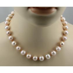 Perlenkette rosa Süßwasser Zuchtperlen mit Mondstein Halskette 45,5 cm