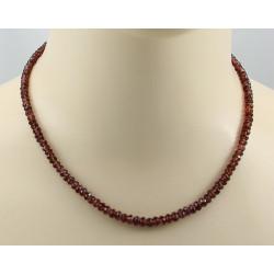 Granat-Kette facettierter roter Granat Edelstein Halskette 45 cm lang