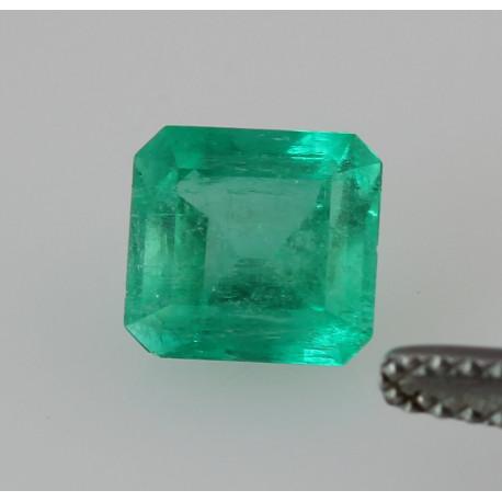 Smaragd aus Kolumbien grüner Smaragd im Treppenschliff 1,42 kts-Edelsteine
