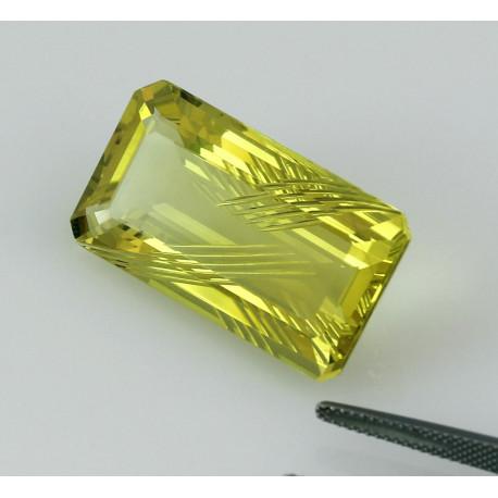 Lemon-Citrin Oktagon 32,32 kts-Edelsteine