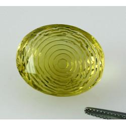 Lemon Citrin Edelstein mit Gravur 28,52 Karat