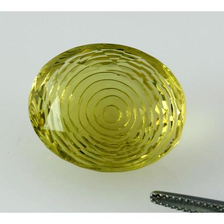 Lemon Citrin Edelstein mit Gravur 28,52 Karat-Edelsteine