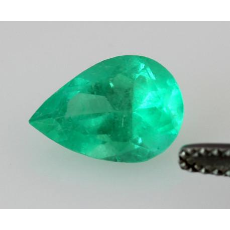 Smaragd Tropfen facettiert geschliffen aus Kolumbien 1,62 Karat-Edelsteine