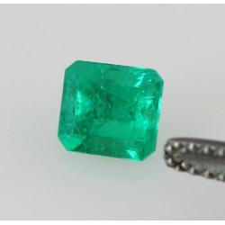 Smaragd aus Kolumbien als faccetiertes Achteck geschliffen 0,78 kts