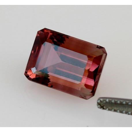 Turmalin rosa facettiert Oktagon 6,41 Karat-Edelsteine