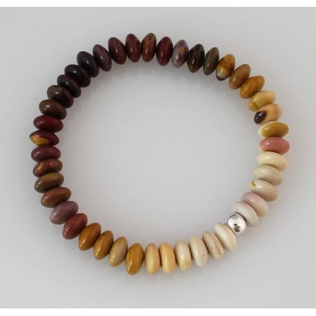 Mookait Armband Buddha Armband aus australischem Jaspis-Edelstein-Armbänder